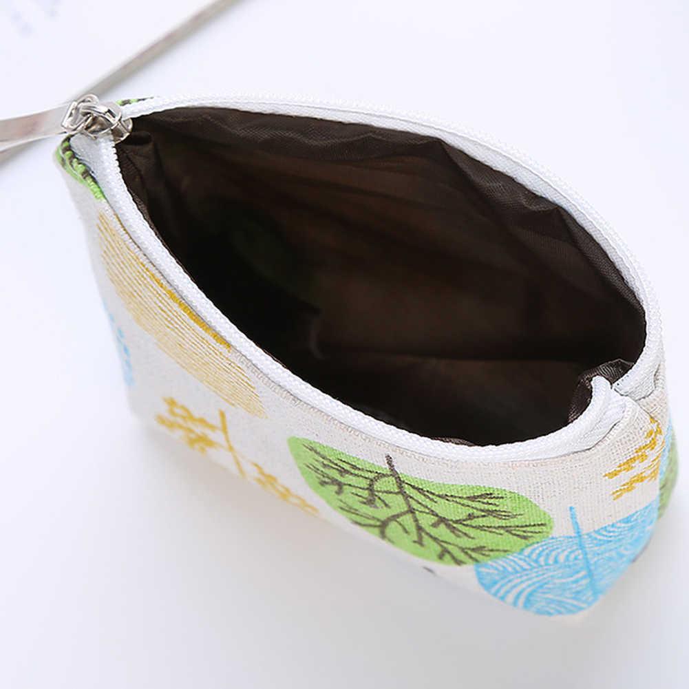 Saco de lona pequena bolsa de moedas de impressão pequena carteira com zíper cartão de armazenamento de moedas saco de meninas portátil chave bolsa titular do cartão para crianças