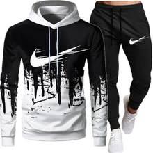 Sweat-shirt à capuche et pantalon pour homme, ensemble de 2 pièces pour la course à pied, le Sport, collection hiver 2021