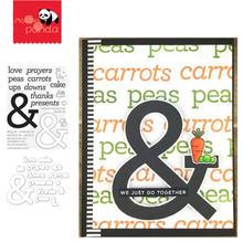 Металлические штампы и ampersand с надписями для рукоделия скрапбукинга