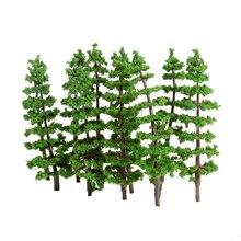 10PCS 9cm Green Pine Trees Model Street Park Train Railway Scenery Layout Tree Scenery Landscape Toys Festive Party Decor