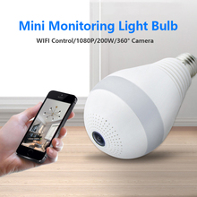 цена на Mini Wireless Security Camera WIFI Control Light Bulb 1080P 200W 360° Camera for Home Security