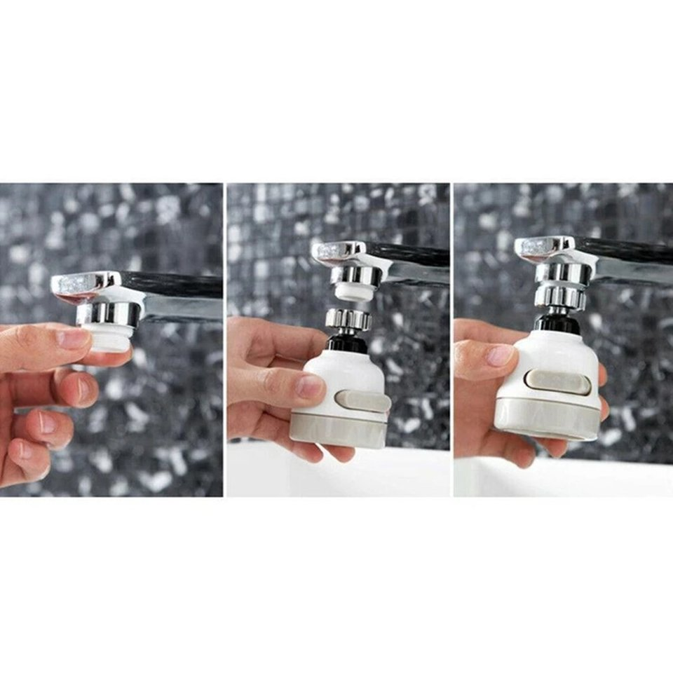 Faucet Boost Three-Speed Adjustment Splash-Proof Nozzle Household Tap Water Shower Water-Saving Rotating Filter