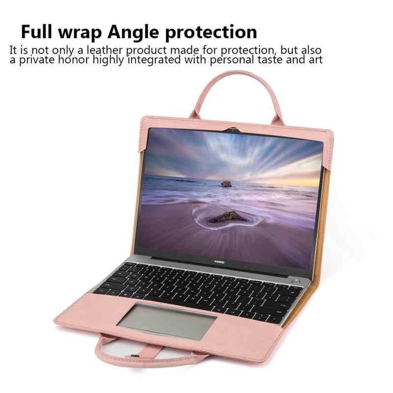 حافظة لهاتف هواوي هونور MagicBook 14 بوصة حافظة كمبيوتر محمول PU حقيبة يد جلدية فوليو حافظة واقية بزاوية كاملة لحقيبة هونور MagicBook 14
