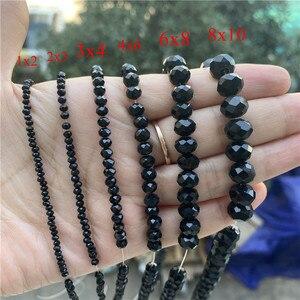 1mm/2mm/4mm/6mm/8mm grânulos de cristal rondel facetado grânulos de vidro para joias que fazem diy acessórios atacado lotes a granel
