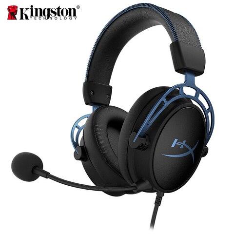 Headset com um Microfone para Computador Kingston Hyperx Cloud Alpha E-sports Headset 7.1 Surround Sound Gaming s