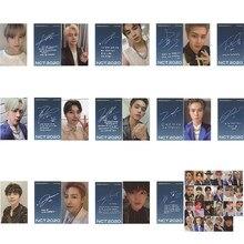 Kpop NCT 2020 резонанс Pt. 1 ломо-карта для фотографий, одна и та же Самостоятельная подпись, маленькая синяя карта для поклонников, коллекция канце...