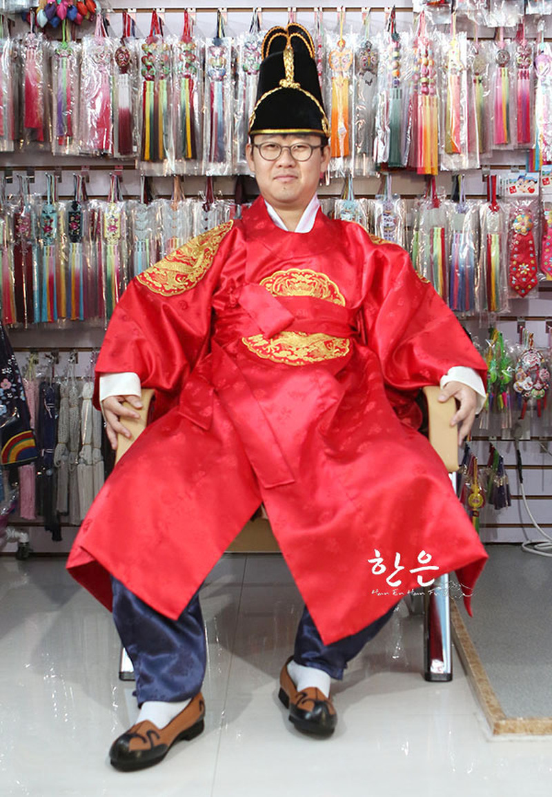 Korea Imported Ancient Costume King Clothes / Satin King Clothes / Photo Studio Clothing  Asian Clothes
