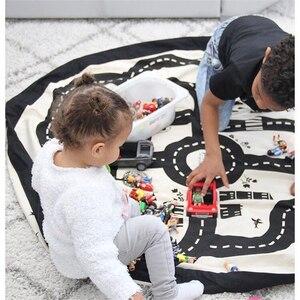 Image 4 - Neugeborenen Abenteuer Spiel Lagerung Spielzeug Auffangbeutel Decke Baby Strasse Track Klettern Matte Kleinkind Abdeckung Entwicklung INS Teppichboden