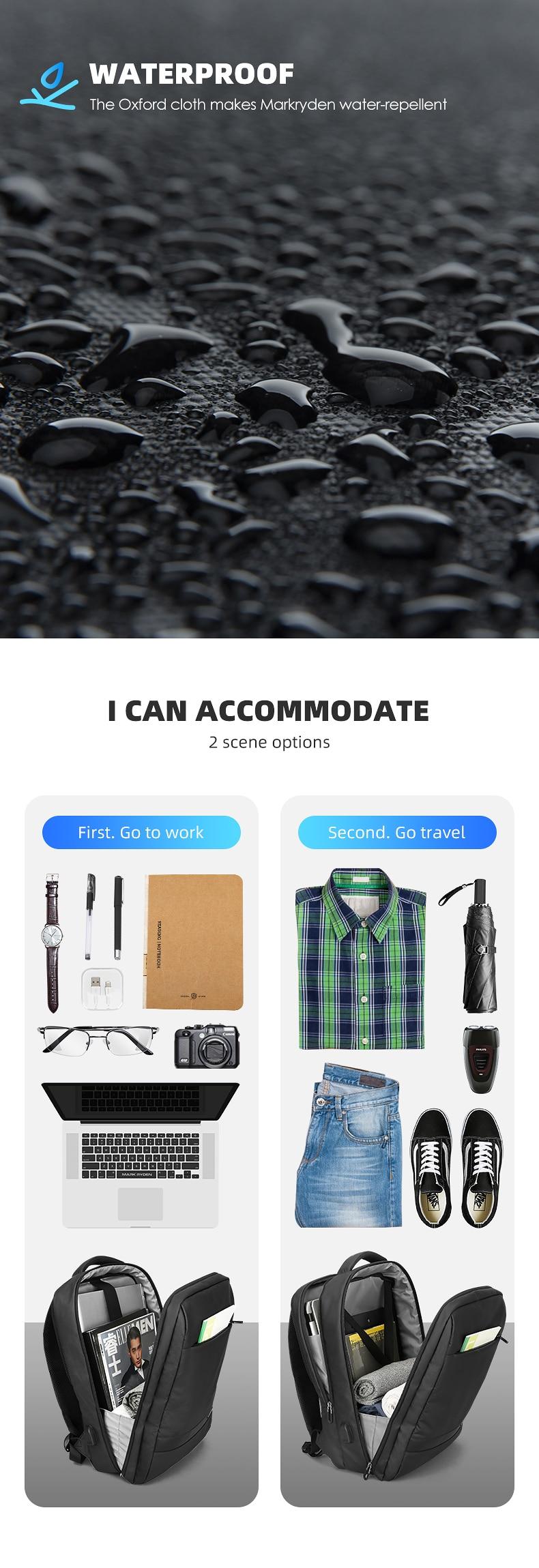 polegadas sacos para portátil para homens multi-camada mochila de viagem masculina