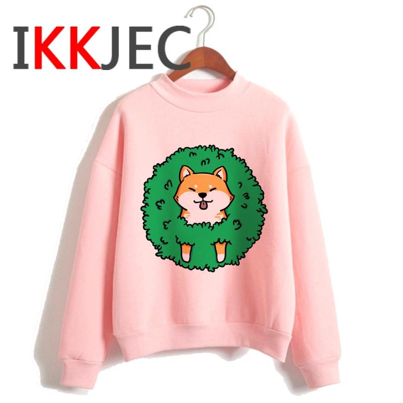 Shiba Inu Kawaii Dogs Funny Cartoon Grunge Aesthetic Hoodies Women Ladies Harajuku Cute Anime Sweatshirt Streetwear Hodoy Female 16