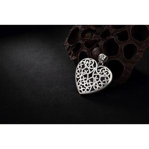 Image 5 - Sterling Silber 990 Anhänger Herz Geformt Fisch Und Lotus Carving Personalisierte Halsketten & Anhänger Geschenke Für Frauen Edlen Schmuck