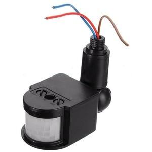 Image 4 - 180 obrotowy na zewnątrz podczerwieni ruchu PIR czujnik 110 220V przełącznika światła na ścianie oszczędzania energii przełącznik świateł #63