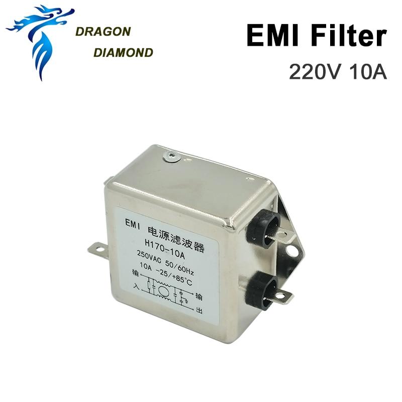 Power EMI Filter HONGDA Single Phase Power Filter AC 250V 10A 50/60HZ