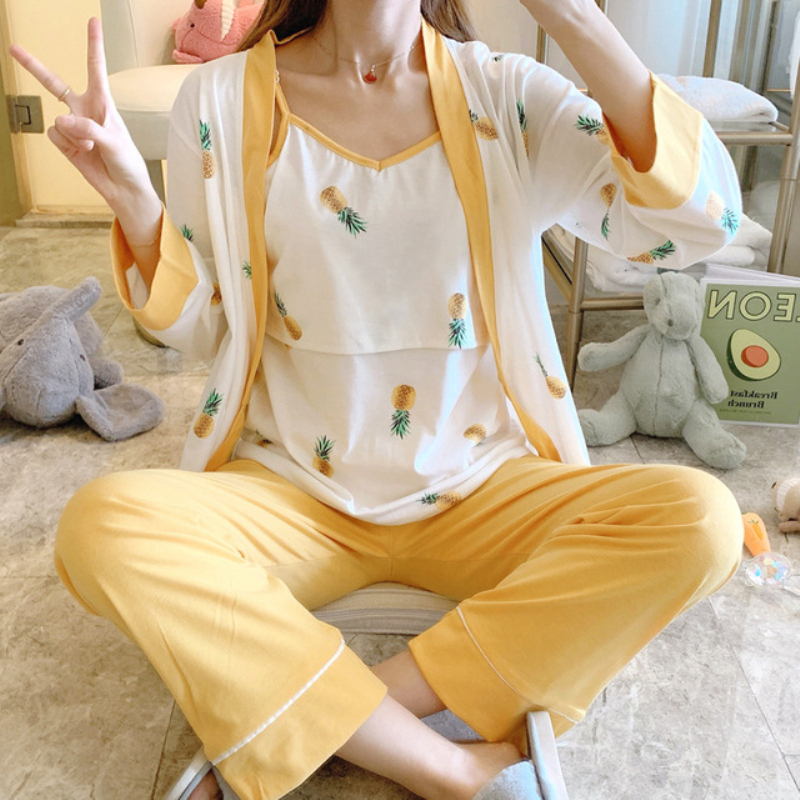 Cotton Postpartum Pregnant Women Breastfeeding Suit Long Sleeved Pajamas Home Clothes In Spring Autumn And Winter Sleep Lounge Aliexpress