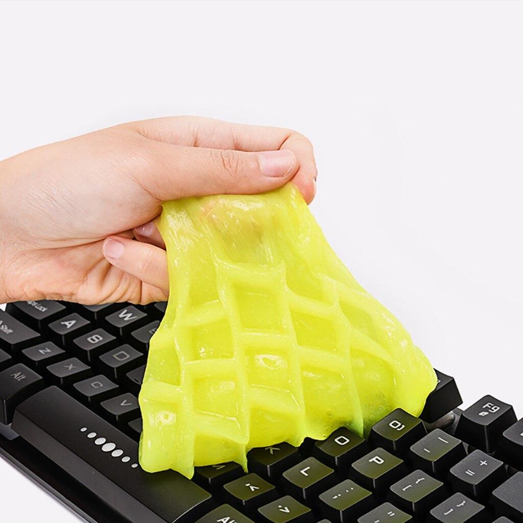 Новинка, очищающая клей резинка, силиконовая гелевая Автомобильная клавиатура, очиститель от пыли, милый зеленый слизь, Практичный Прочный высококачественный волшебный мягкий липкий Губки для ваксы      АлиЭкспресс