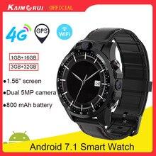 Kaimorui – montre connectée 4G pour les hommes, avec 3 go de ram et 32 go de rom, double caméra de 5mp, batterie de 800mAh, écran de 2.1 pouces, Android 7.0, wi fi, GPS, pour Xiaomi IOS, 2021