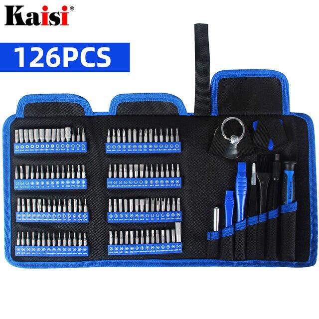 Kaisiドライバーセット精密ドライバーツールキット磁気フィリップスビット 126 で 1 電話ノートパソコンのpc修理ハンドツール