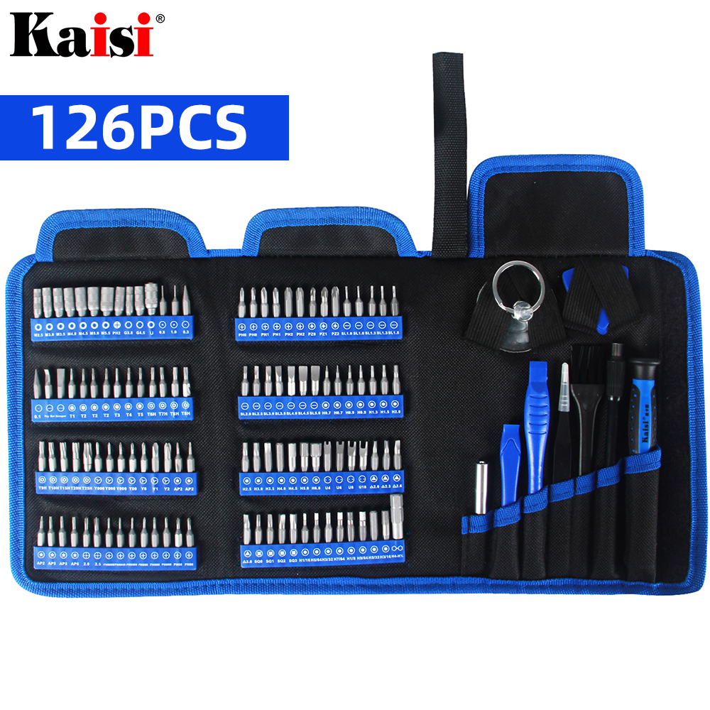 Kaisi Screwdriver Set Precision Screwdriver Tool Kit Magnetic Phillips Torx Bits 126 In 1 For Phones Laptop PC Repair Hand Tool