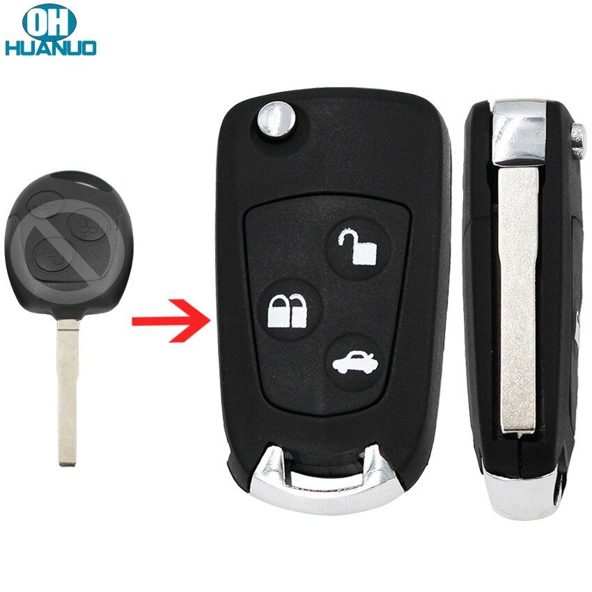 Модифицированный складной чехол-брелок для телефона с 3 кнопками для Ford Fiesta uncut HU101 blade