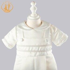 Image 5 - ذكيا الطفل الصبي الملابس التعميد أثواب الصلبة الطفل الملابس الوليد الرضع الملابس معطف أبيض 3M 6M 9M 12M vestidos