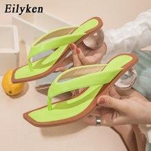 Eilyken-chanclas cuadradas de tacón bajo para mujer, sandalias transparentes de cristal, diseño a la moda, color verde, talla 43