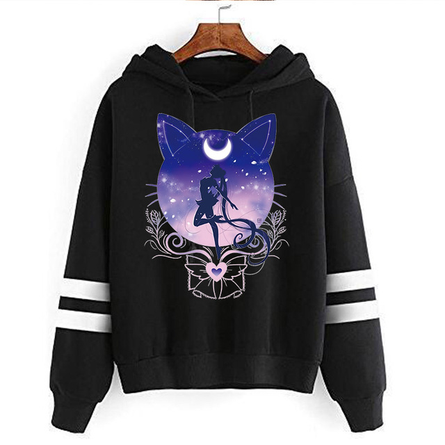 SAILOR MOON THEMED STRIPED HOODIE (34 VARIAN)