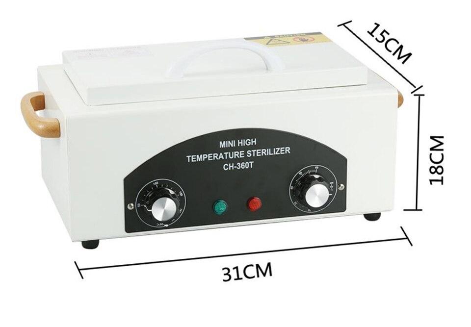 máquina pedicure prego esterilização ferramentas manicure calor seco