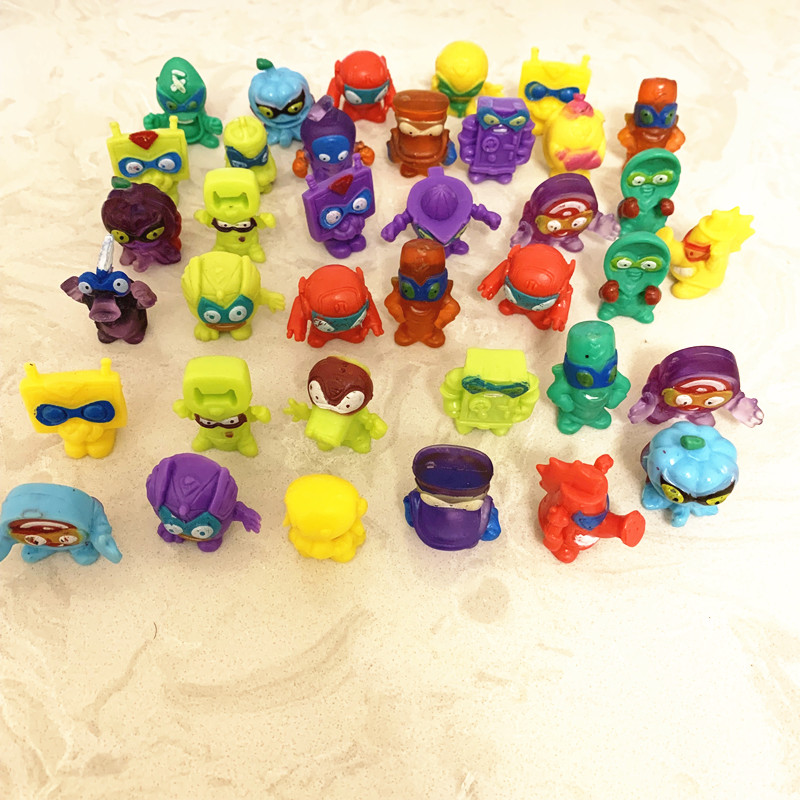 10-100pcs Super Zings Action Figures Dolls 3CM PVC SuperZings Collection Model Toys For Children Playing Gift