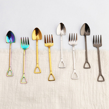 Fork Spoon Kitchen-Accessories Stainless-Steel Coffee-Ice-Cream Long-Handle Soup 1pcs