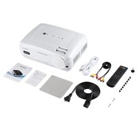 LESHP 720P LED Projector Protable Video Projector Multimedia Home Cinema Theater Game Projector HDMI VGA USB for Laptop TV (BU)