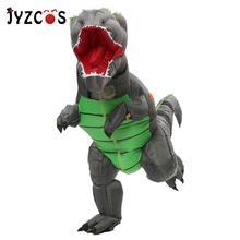 Jyzcos dinossauro t rex traje inflável para as mulheres dos homens criança carnaval traje halloween cosplay mascote festa purim traje