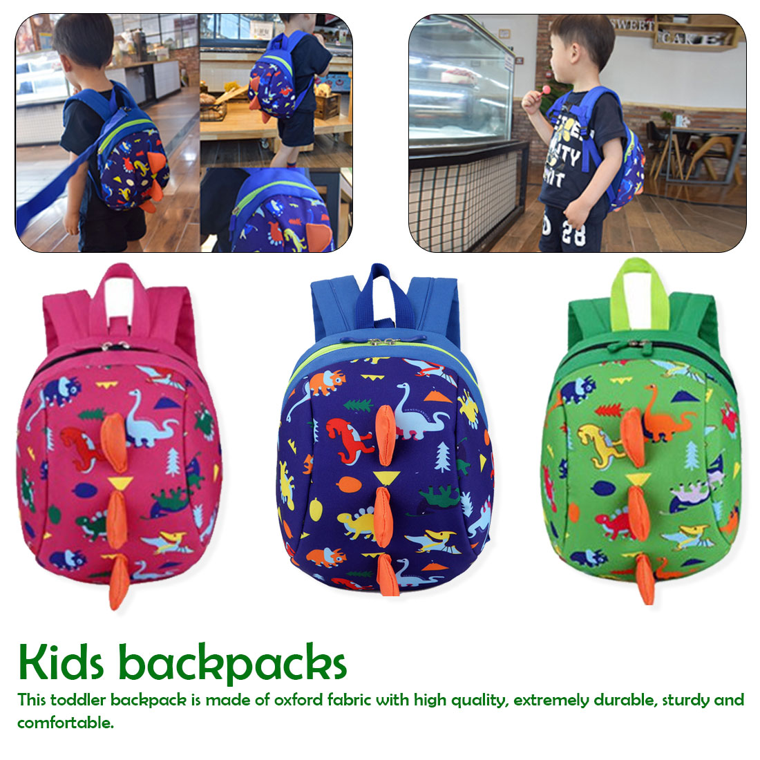 Kids Baby Safety Harness Backpack Leash Toddler Anti-lost Dinosaur Bag Baby Hot Bags