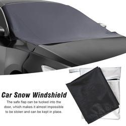 Uniwersalny samochód pokrywa śnieżna mróz samochód osłona na szybę przednią ochrony przed mrozem ochraniacz wodoodporny osłona szyby dla samochodów Truck SUV