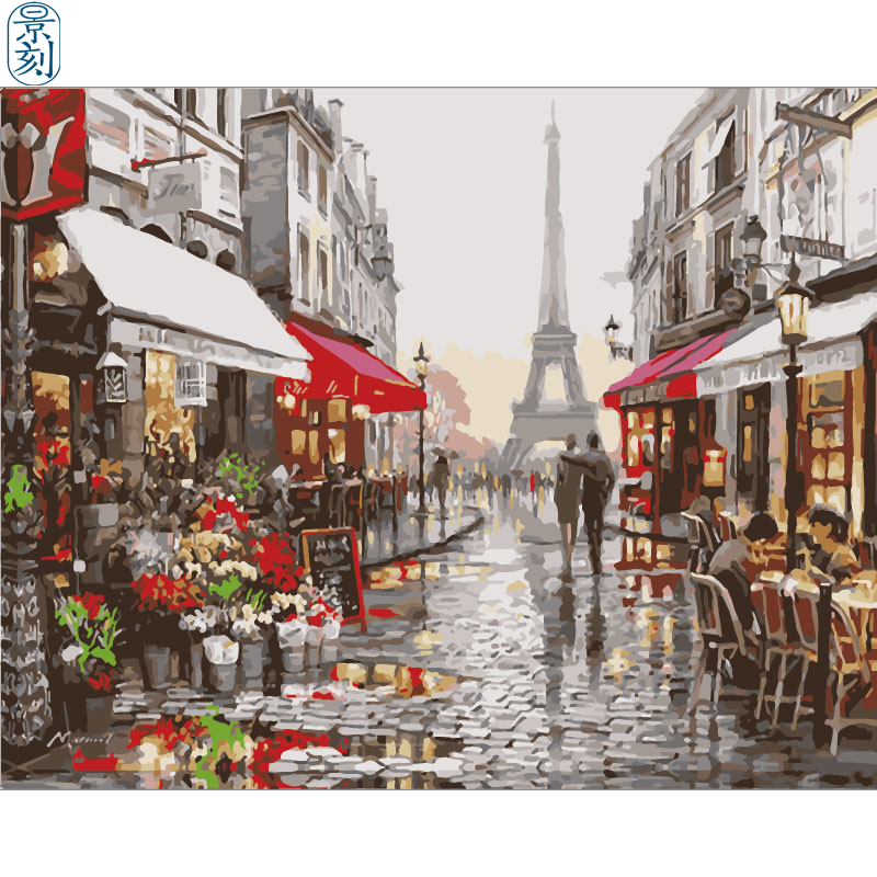 Street View Series.Hand Made Paint High Quality Canvas Beautiful Painting By Numbers Surprise Gift Great Accomplishment