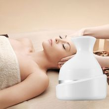 Waterproof Electric Head Scalp Massager Wireless Portable Handheld Body Deep Tissue Kneading Vibration 4 Head Device Health Care