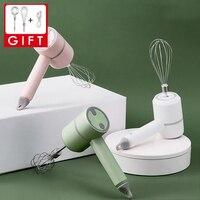 Inalámbrico portátil eléctrico Mezclador de alimentos la licuadora de mano 3 velocidades de alta potencia dinero licuadora batidor de huevo de mano herramientas de cocina