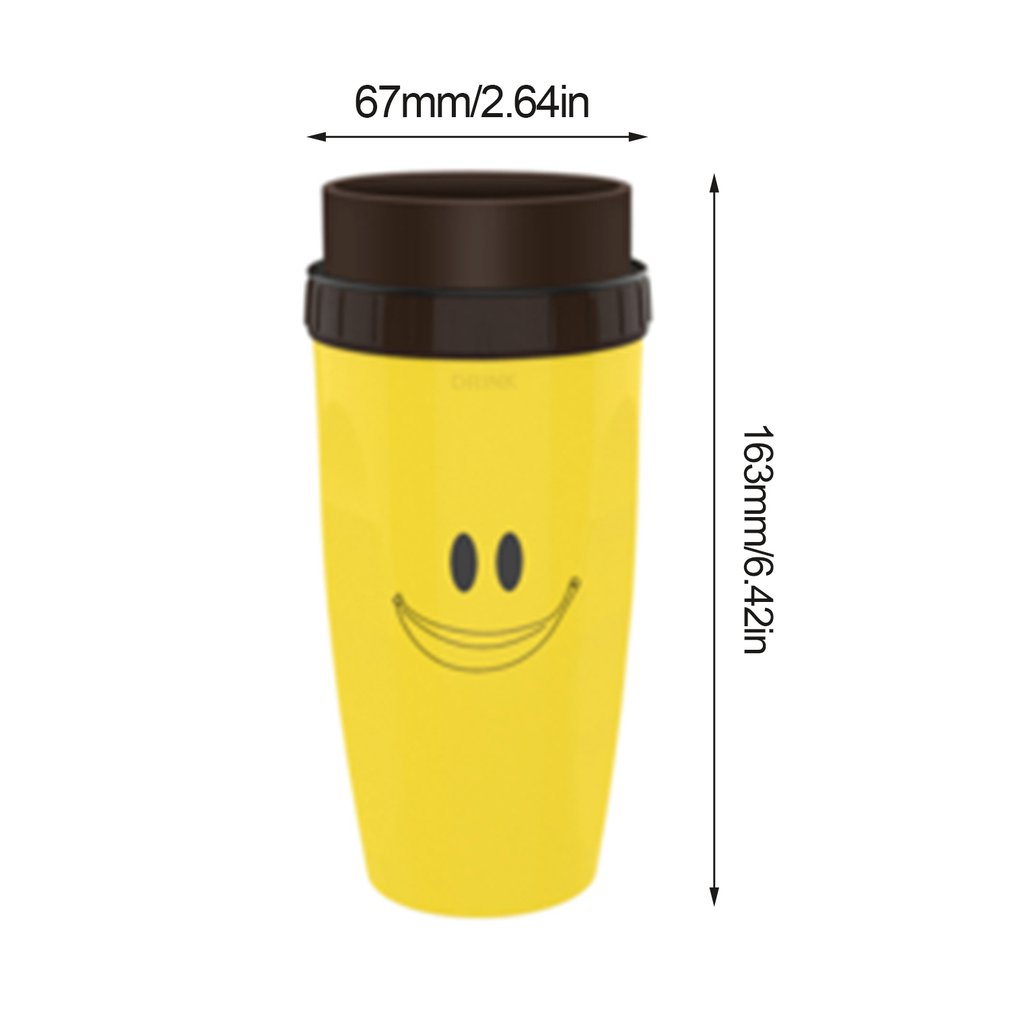 Coverless Twisted Cup Portable Double-layer Tide Models Personality Men And Women Gifts Street Fun Decompression Cup