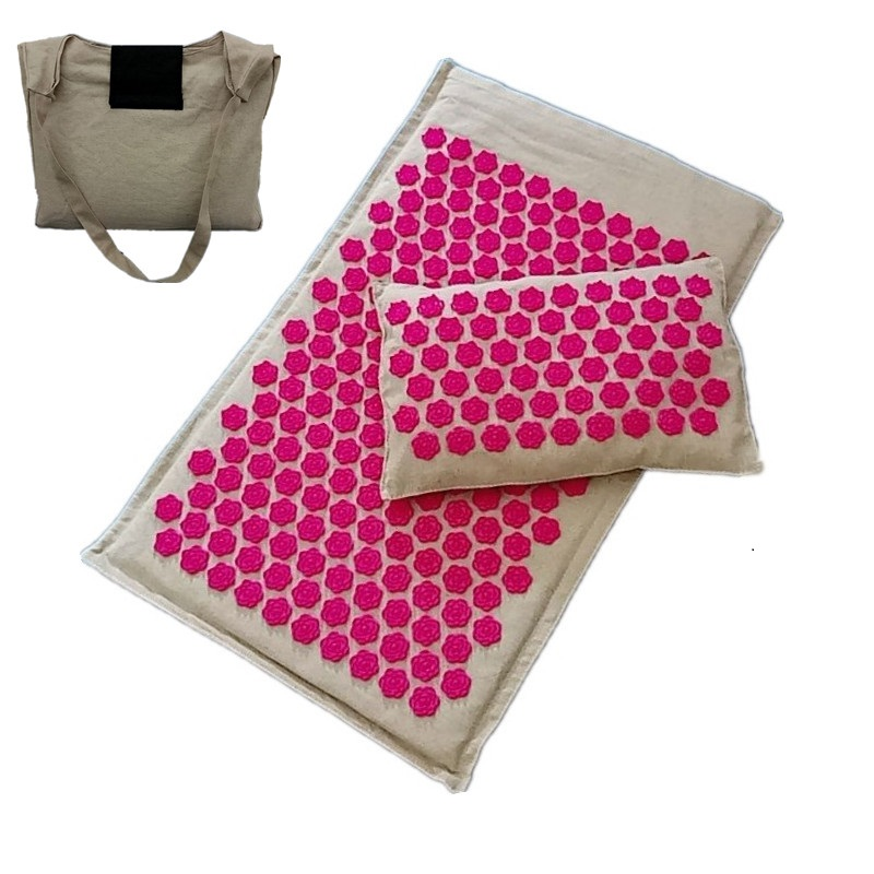 Lotus Spike Acupressure Mat Acupuncture Cushion/Pillow Health Care Massager Tool Mat