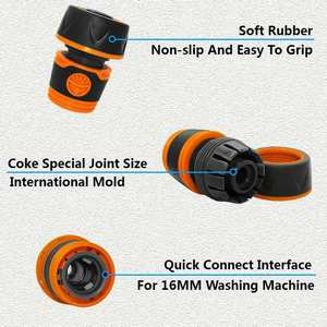 Image 5 - Car Wash Hose Connector Waterstop Connector Fast Water Stop Joint For 1/2 Inch Hose Garden Lawn Irrigation Fittings Pipe Adapter
