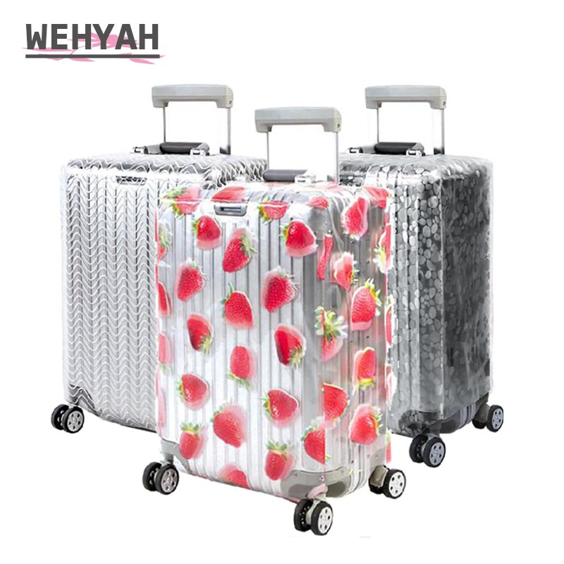 Wehyah Transparent PVC Waterproof Luggage Cover Suitcase Covers Travel Accessorie Dust Proof Cover 20-28'' Protective Case ZY136