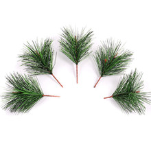Artificial Green Pine Needle For Wedding Christmas Decoration DIY Craft Gift Xmas Tree Home Party Decor(China)