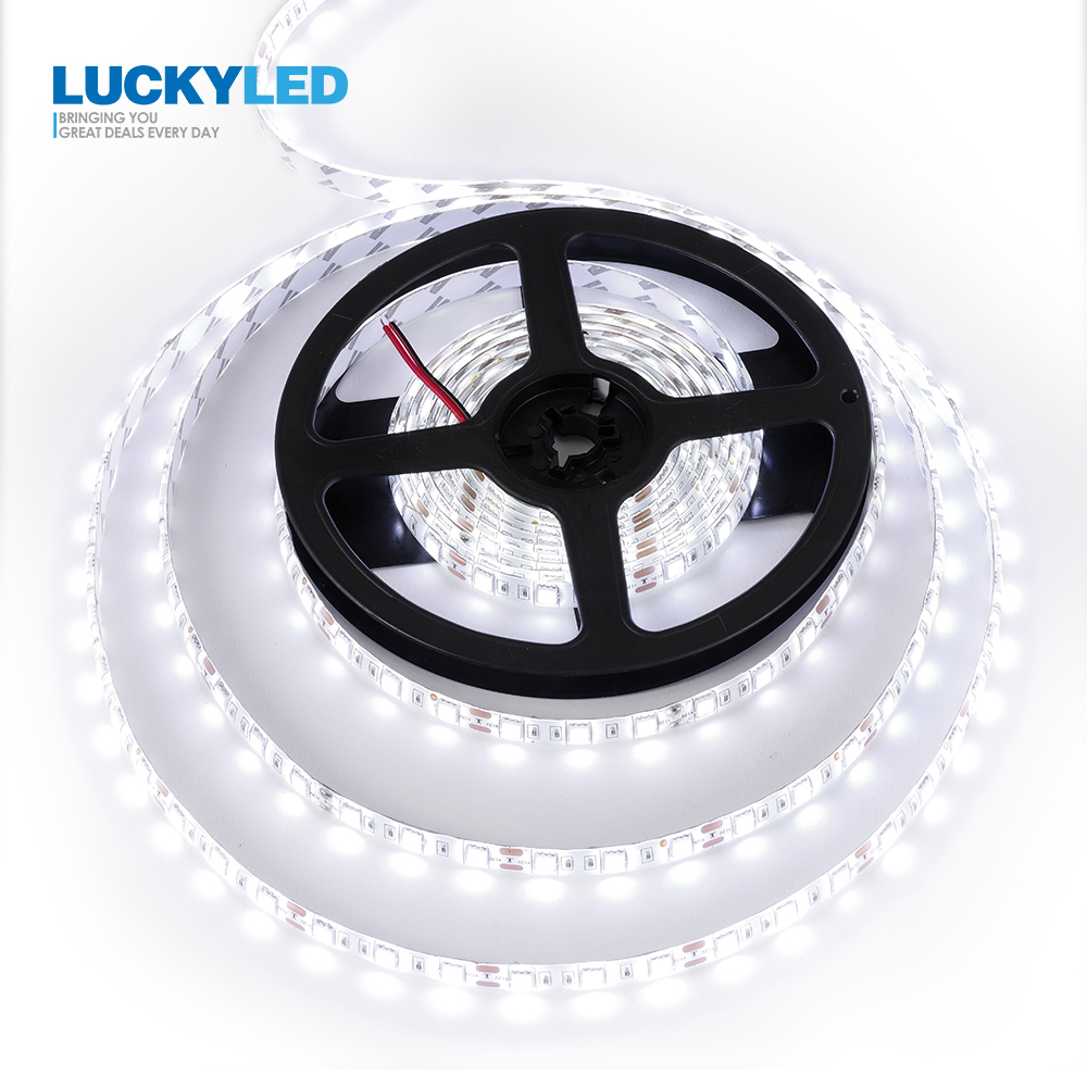Tira de Led de 5M 2835 SMD 5050 60 Leds/M cinta Led Flexible impermeable 12v cinta decorativa luces Led rayas Led RGB