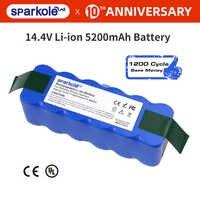 Sparkole 5.2Ah 14.4V Battery Li-ion Battery for irobot Roomba 500 600 700 800 Series 510 530 555 620 650 760 770 780 790 870 880