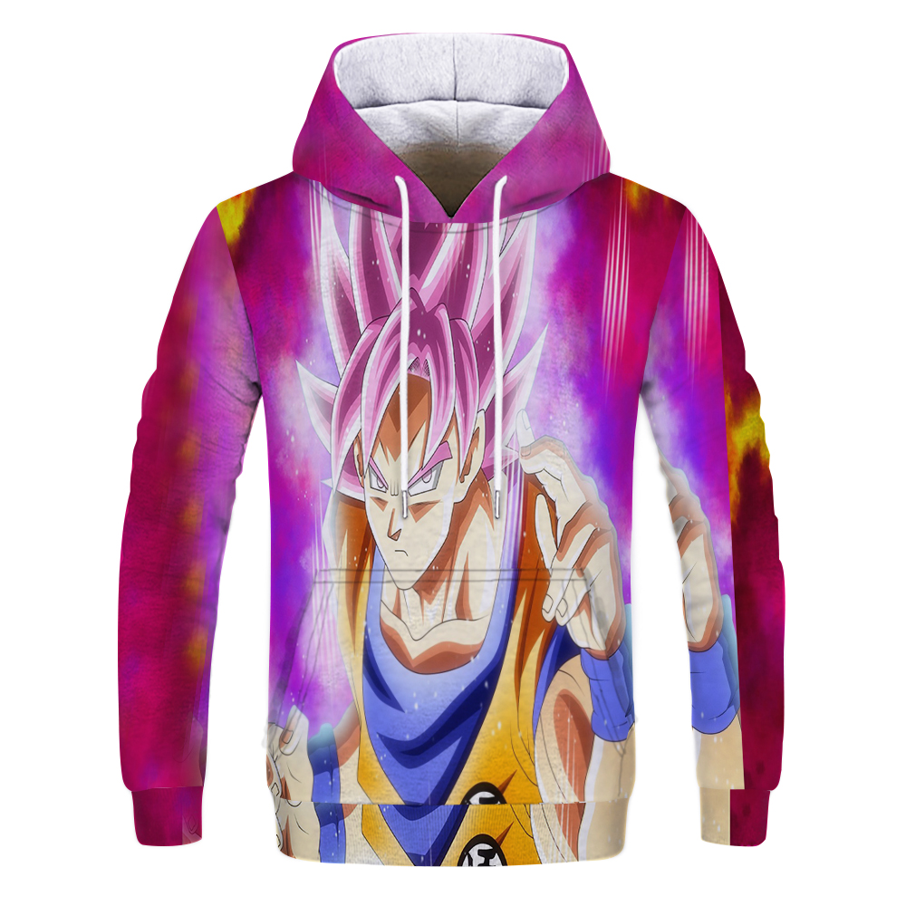 Women Men 3D Hoodie Black Goku Anime Casual Sweatshirt Dragon Ball Pullover Tops