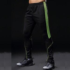 Image 3 - Спортивные штаны для мужчин, спортивные Леггинсы для фитнеса, спортзала, футбола, тонкие длинные белые штаны для бега, 2019