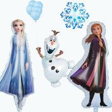 Grande fronzen elsa anna folha balões festa de aniversário decorações 1pc olaf neve ar globos chá de fraldas fontes crianças brinquedos