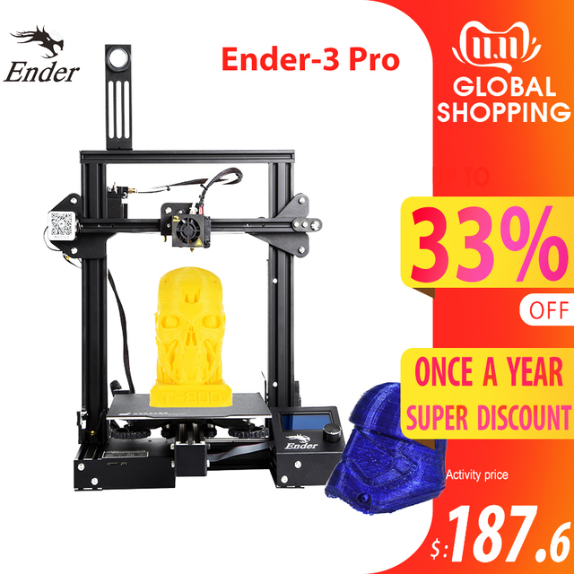 CREALITY 3D Ender 3 Pro Printer Printing Masks Magnetic Build Plate Resume Power Failure Printing KIT Mean Well Power Supply