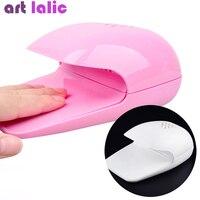 Mini Tragbare Nagellack Trockner Fan Nail art Polish Trocknen Fön Rosa/Weiß Nagel Kühler Heißer Verkauf