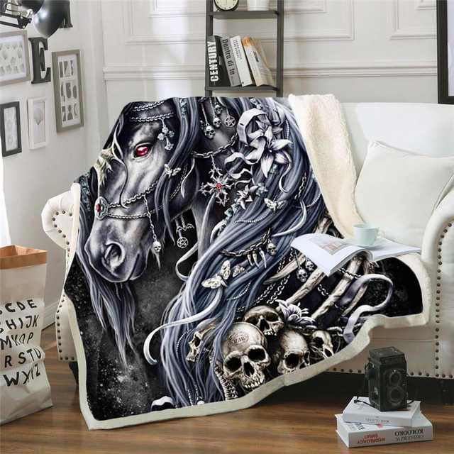 3D SKULL THEMED BLANKET (21 VARIAN)