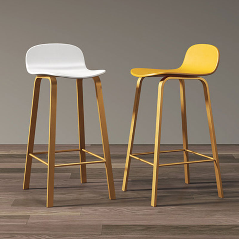 Nordic Bar Chair Front Desk Restaurant With High Stools Leisure Backrest Two Sitting High A Variety Of Colors